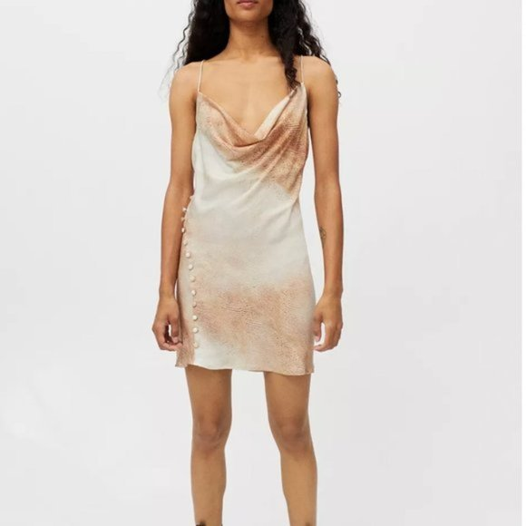 NEW ✨ Lioness Urban Outfitters Don't Be Jealous Slip Dress Python Small